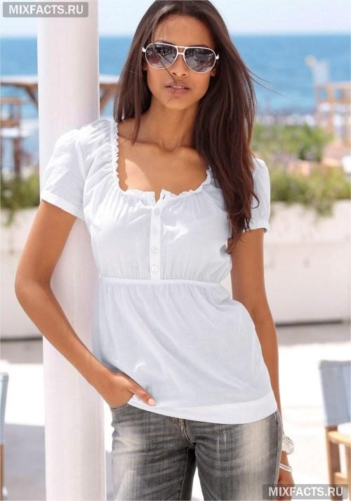 4034ad79059 Летние блузки из хлопка. белоснежная дышащая модель