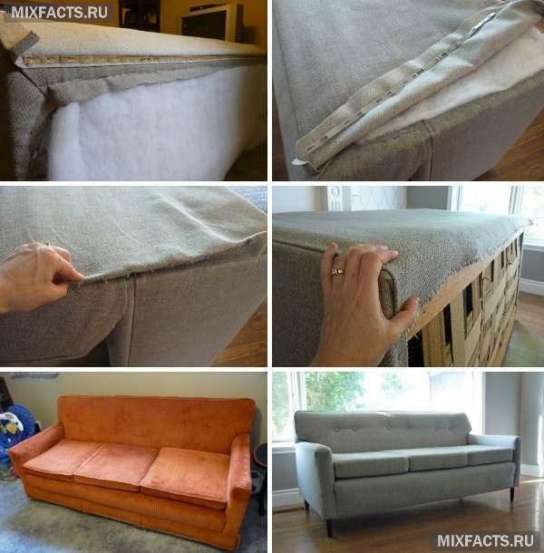 Перетяжка дивана своими руками пошагово фото 893