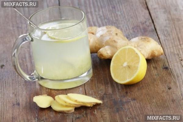 Напиток из имбиря и лимона для похудения