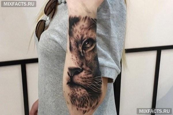 Тату льва на руке – идеи мужских и женских рисунков