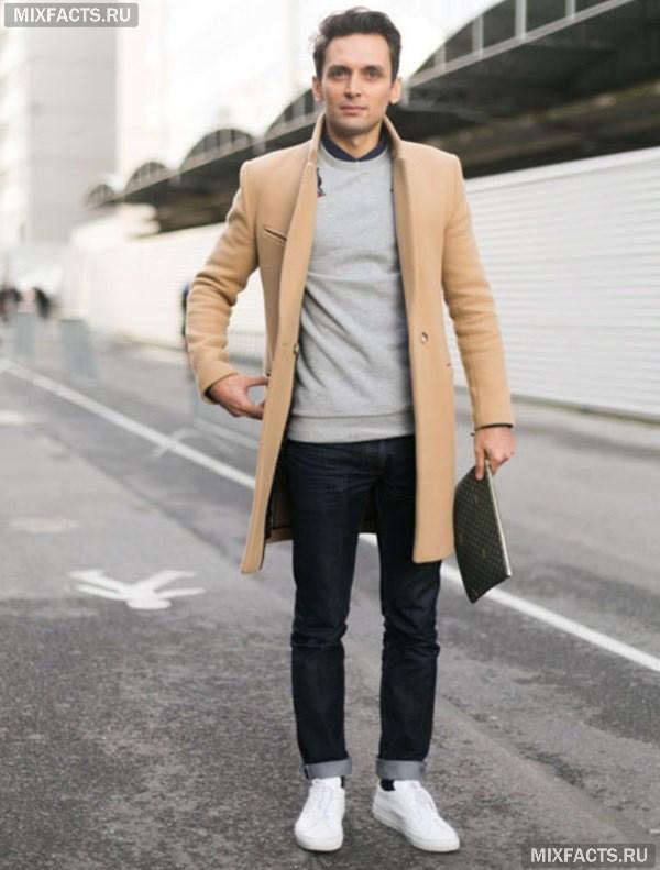 с чем носить мужское пальто как подобрать демисезонную и зимнюю модель