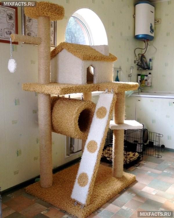 Многоуровневый кошачий домик своими руками 67