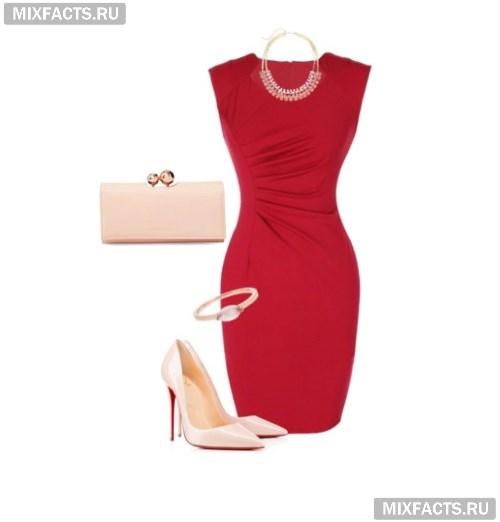 7071a6e95042061 Аксессуары к красному платью (фото)