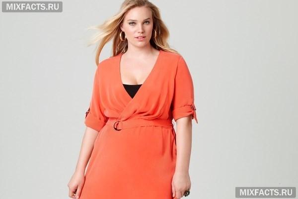 Модные платья для полных женщин невысокого роста 8585f010175