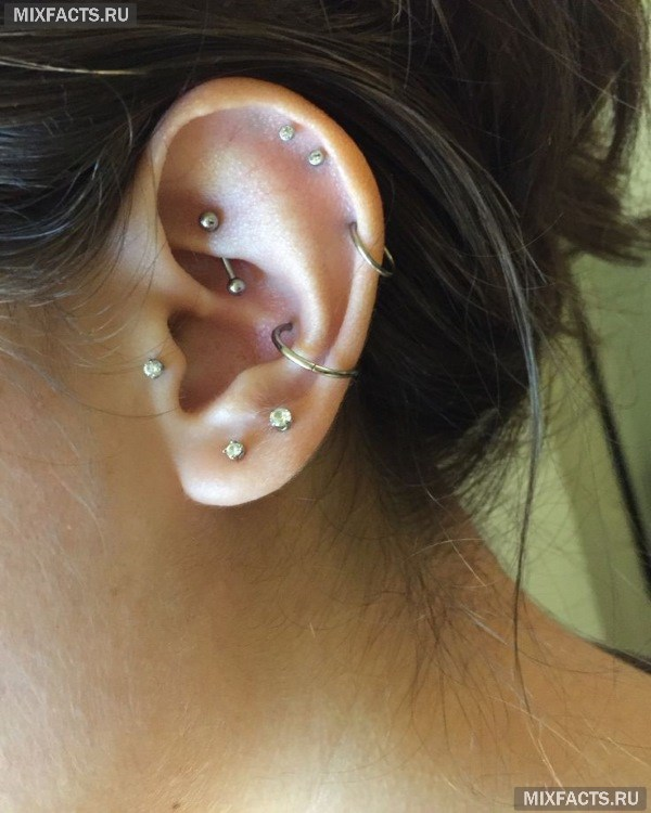 Пирсинг уха – виды проколов, особенности ухода, фото