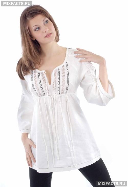 1100cd311779608 Летние блузки из льна (фото)