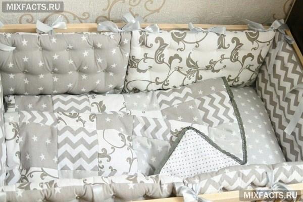 Виды бортиков в детскую кроватку - какую модель, ткань и наполнитель лучше выбрать?