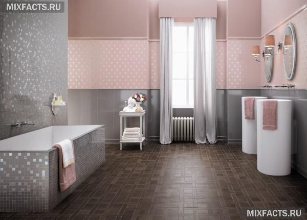 Ванная комната серая мозаика икеа фото ванной комнаты