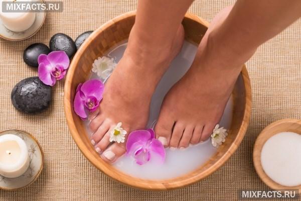 Ванночки для ног от мозолей в домашних условиях