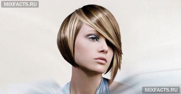 мелирование отдельных прядей модное окрашивание волос фото