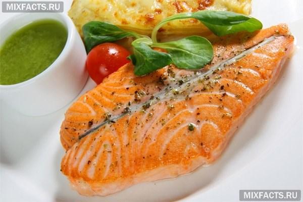 лосось для похудения на животе