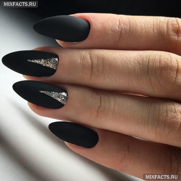 ногти черные дизайн фото 3