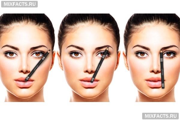 Как правильно сделать форму брови фото формы