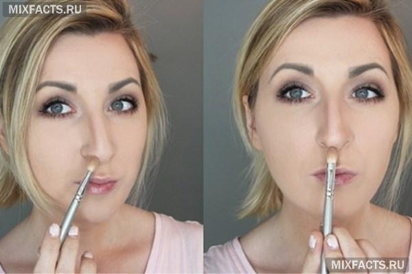 Большой нос у девушки – как скрыть прической и макияжем, возможные операции