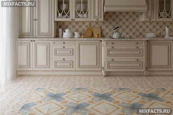 Какую плитку лучше положить на пол в кухне?