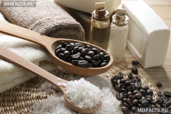 Скраб для тела с медом и добавлением морской соли глины и кофе