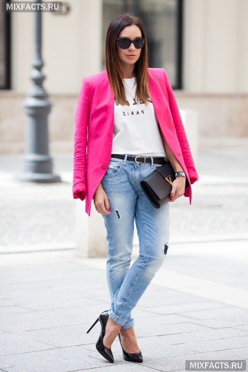 С чем носить светлые джинсы