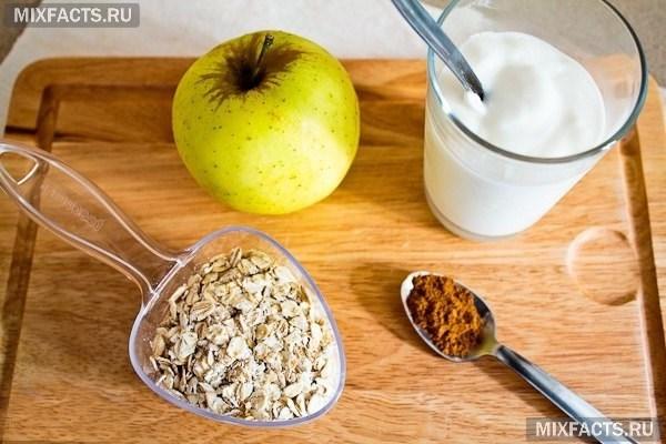 Отзыв о диета трех продуктов: овсянка, яблоки, творог | вкусная.