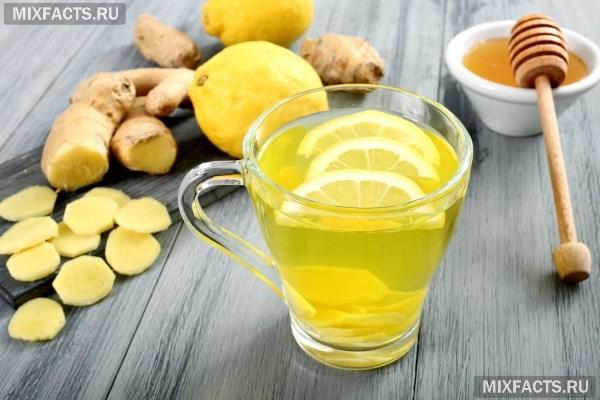 Имбирный чай с медом и лимоном для похудения (рецепт)
