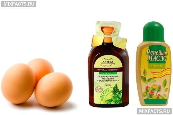 Репейное и касторовое масло для здоровья волос