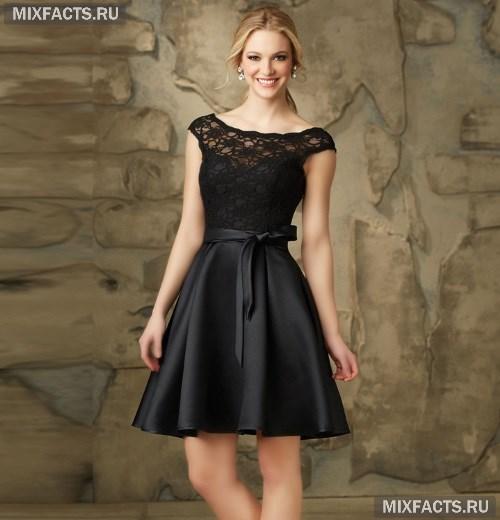 477061cb064 Атласные платья с кружевом (фото)