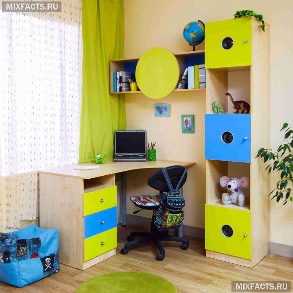 письменный стол для школьника угловой фото