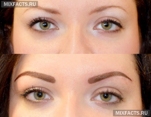 Окрашивание бровей хной: особенности процедуры с фото до и после