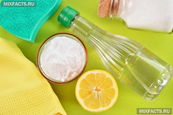 Чистка ванны кальцинированной содой и уксусом: как отбелить в домашних условиях