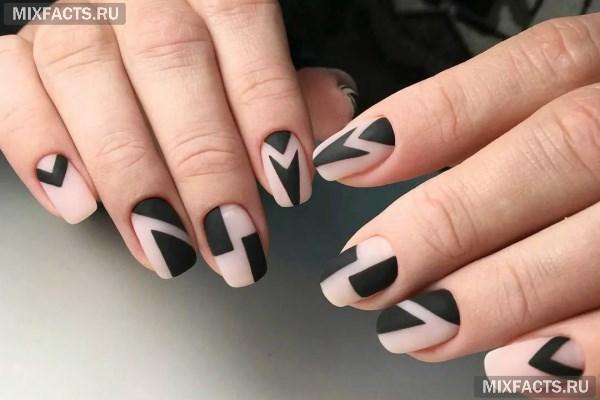 Графический маникюр - идеи дизайна и фото на ногтях