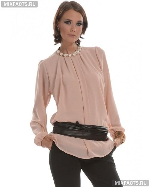 Модели блузок (176 фото): с длинным рукавом, коротким и без рукавов, трикотажные, из хлопка, шелка, шифона, летние 33