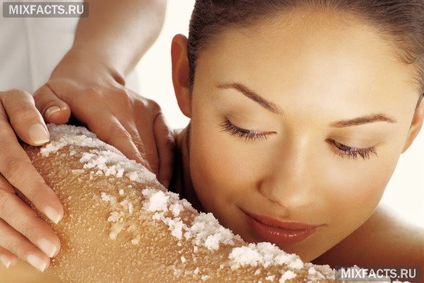 Скраб из морской соли для тела в домашних условиях.