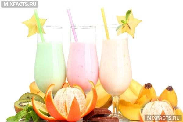 рецепты молочных коктейлей для питья после тренировки