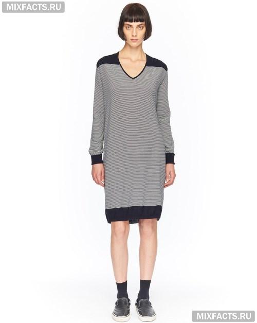 61c0ac724ad Модные женские платья 2017. серое трикотажное платье
