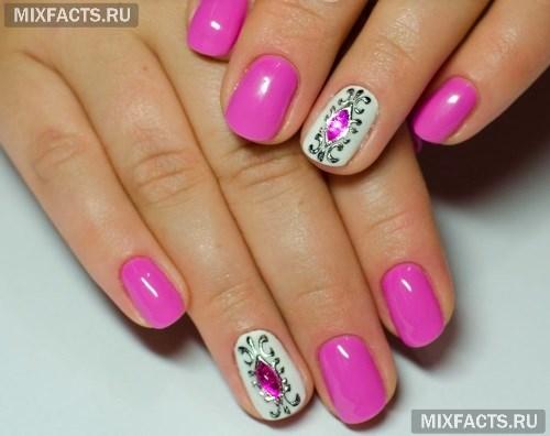 литье и камни на жидкие фото ногтях