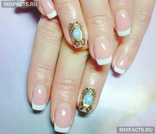 Дизайн ногтей с жидкими камнями и литьем