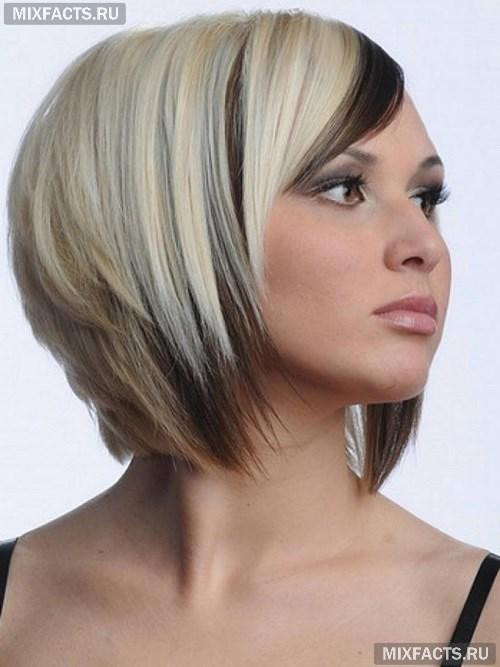 Двойное окрашивание волос в белый и темный цвет