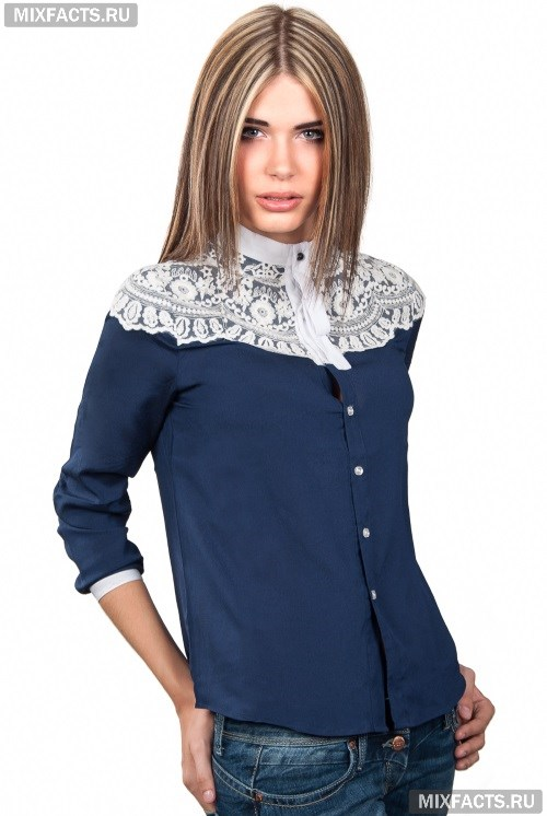 Блузки с кружевом