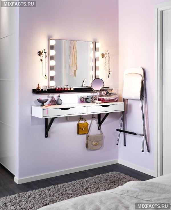 туалетный столик в спальню обзор современных моделей с подсветкой