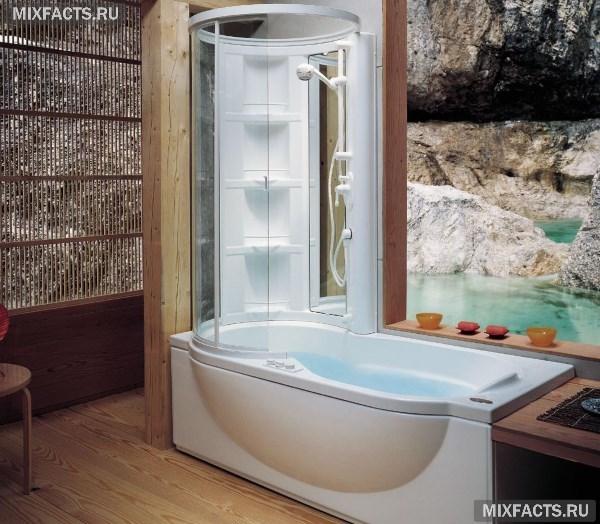 маленькая ванная комната фото с душевой кабиной