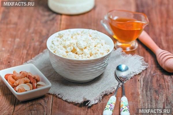 Творог с медом  тандем полезных продуктов для организма
