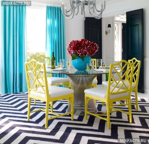 Сочетание бирюзового цвета в интерьере с другими цветами