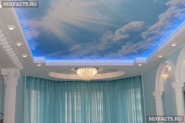 Парящий натяжной потолок с подсветкой на фото и видео-инструкция по монтажу