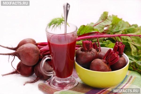 Сырая свекла и морковь польза