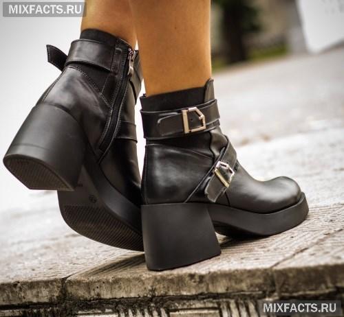 Зимние и весенние женские ботинки 2017. стильные кожаные ботинки 19b98aa8cbc62