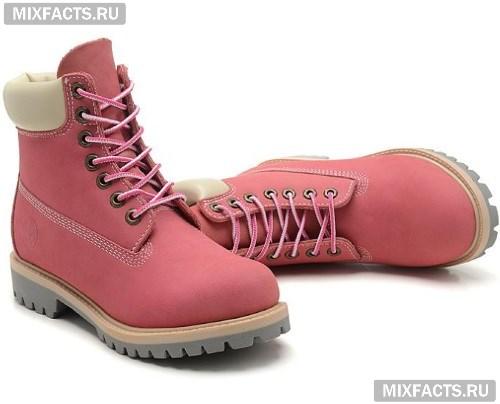 0fa32b27130e Зимние и весенние женские ботинки 2017. оригинальные розовые ботинки  тимберленды