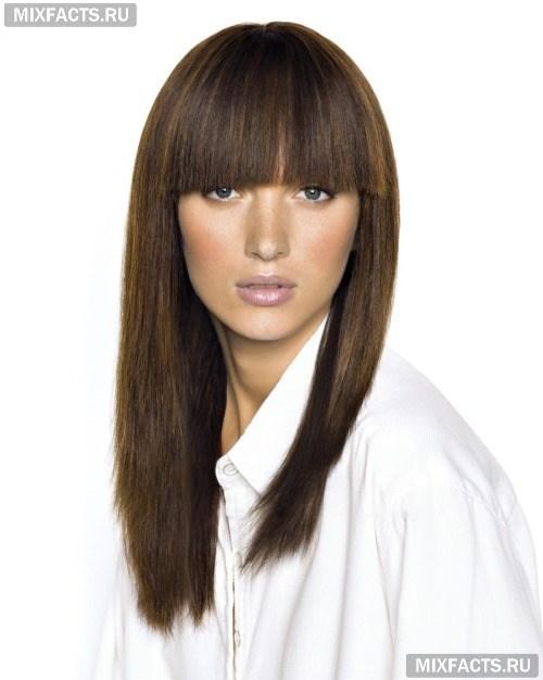 Прически на средние волосы фото с челкой своими руками 610