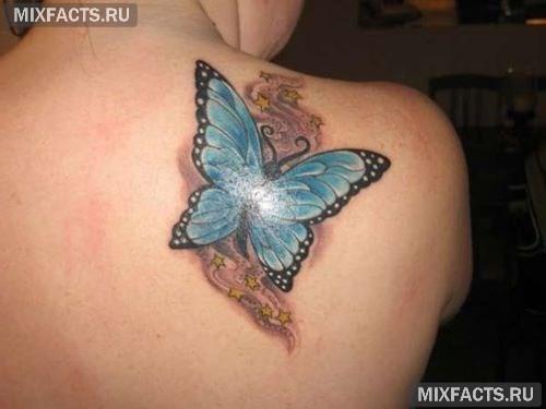 тату бабочки женские фото