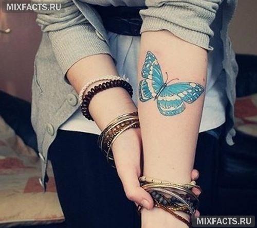 тату бабочки фото на руке