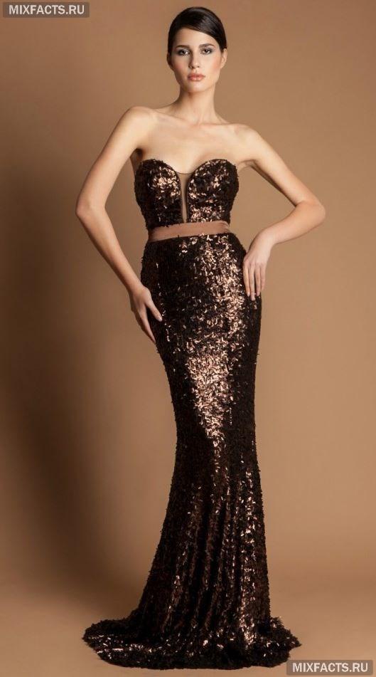 9fb4f619ce9 вечернее платье с пайетками и поясом