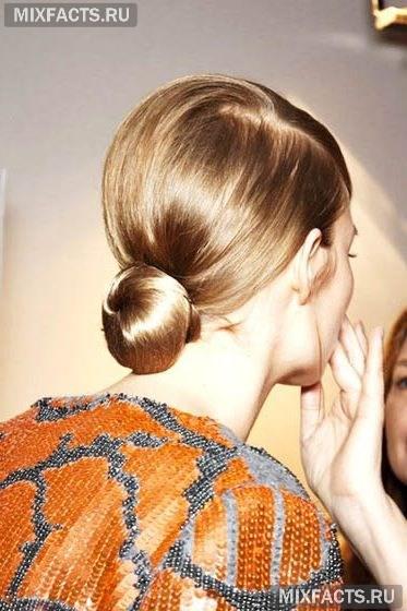 прическа пучок на длинных волосах в домашних условиях